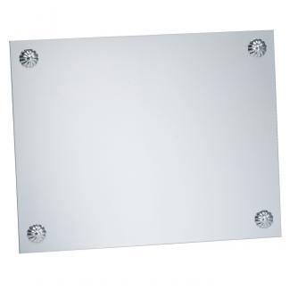 Placa aluminio lisa clavo acabado plata brillo, serie P040 (Frontal)