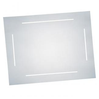 Placa aluminio lineas acabado plata brillo, serie P060 (Frontal)