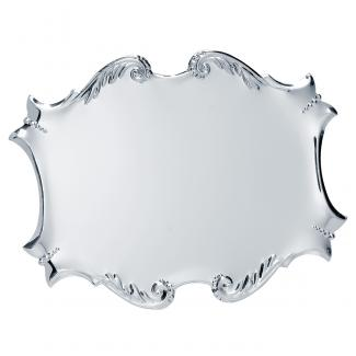 Placa aluminio acabado plata brillo, serie P091 (Frontal)