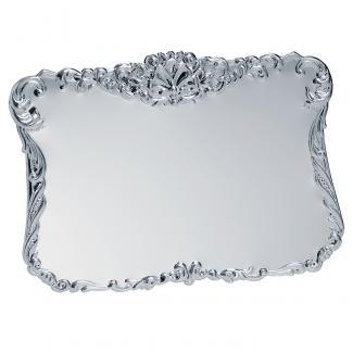 Placa latón baño plata brilo, serie P100 (Frontal)