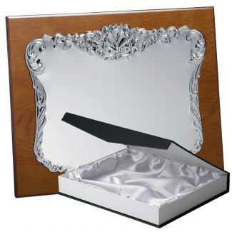 Kit placa de madera color roble avellana mate, aluminio y estuche lujo, serie P193B-50880 (Frontal)