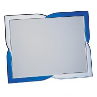 Placa aluminio rectangular plata mate, serie P200 (Frontal)