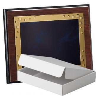 Kit placa de madera color wengue, aluminio y estuche sencillo, serie P210A-50900 (Frontal)