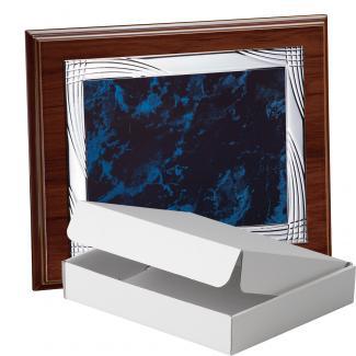 Kit placa de madera etimoe nogal, aluminio y estuche sencillo, serie P270A-50470 (Frontal)