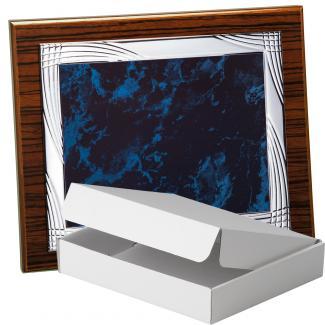 Kit placa de madera color zebrano nogal, aluminio y estuche sencillo, serie P270A-50570 (Frontal)