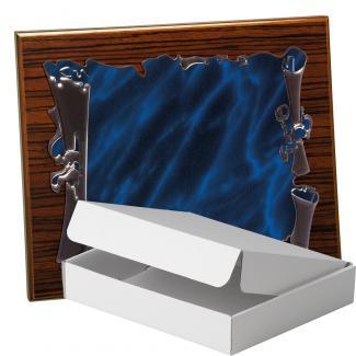 Kit placa de madera color zebrano nogal, aluminio y estuche sencillo, serie P280A-50570 (Frontal)