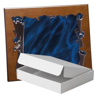 Kit placa de madera color roble avellana mate, aluminio y estuche sencillo, serie P280A-50880 (Frontal)
