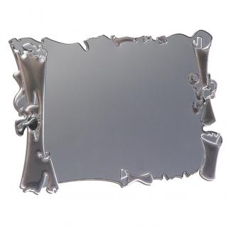 Placa aluminio pergamino plata mate, serie P300 (Frontal)