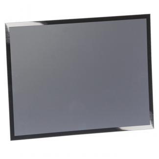 Placa aluminio rectangular plata mate, serie P310 (Frontal)