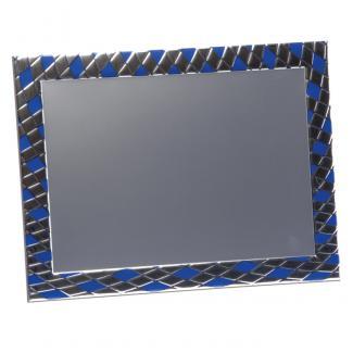 Placa aluminio rectangular plata mate, serie P330 (Frontal)