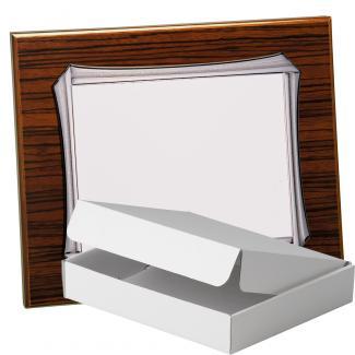 Kit placa de madera color zebrano nogal, aluminio y estuche sencillo, serie P370A-50570 (Frontal)