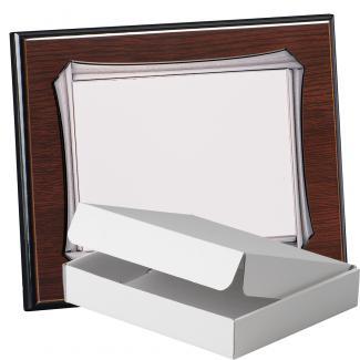Kit placa de madera color wengue, aluminio y estuche sencillo, serie P370A-50900 (Frontal)