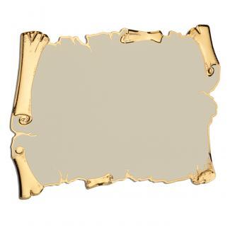 Placa aluminio pergamino oro/blanco, serie P410 (Frontal)