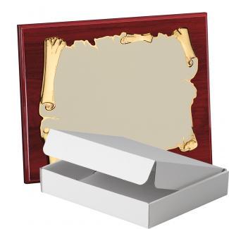 Kit placa de madera color etimoe caoba, aluminio y estuche sencillo, serie P410A-50270 (Frontal)