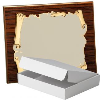 Kit placa de madera color zebrano nogal, aluminio y estuche sencillo, serie P410A-50570 (Frontal)