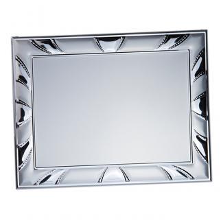 Placa aluminio rectangular plata mate, serie P420 (Frontal)