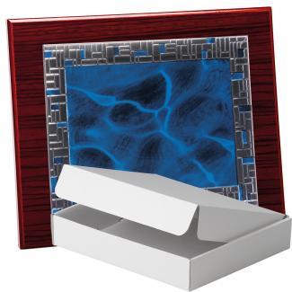 Kit placa de madera zebrano caoba, aluminio y estuche sencillo, serie P430A-50350 (Frontal)
