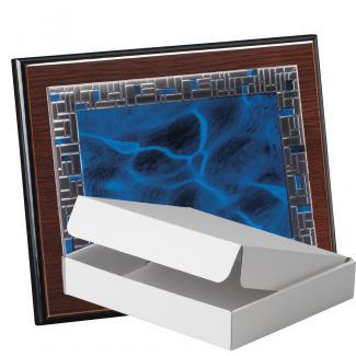 Kit placa de madera color wengue, aluminio y estuche sencillo, serie P430A-50900 (Frontal)
