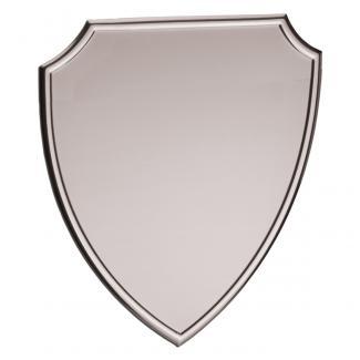 Placa aluminio escudo plata mate, serie P460 (Frontal)