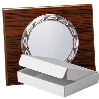 Kit placa de madera color zebrano nogal, aluminio y estuche sencillo, serie P500A-50580 (Frontal)