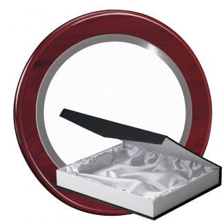 Kit placa de madera color etimoe caoba, aluminio y estuche lujo, serie P540B-50220 (Frontal)