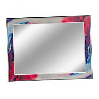 Placa aluminio rectangular plata brillo, serie P500 (Frontal)